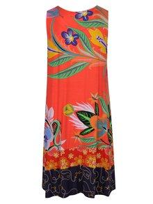 Oranžové vzorované šaty Desigual Elena