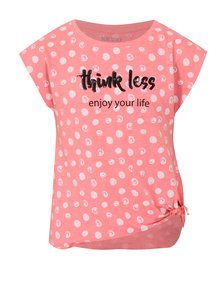Růžové holčičí puntíkované tričko s uzlem Blue Seven