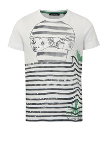 Biele chlapčenské pruhované tričko Blue Seven