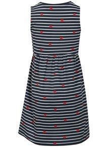 Tmavomodré pruhované šaty Blue Seven