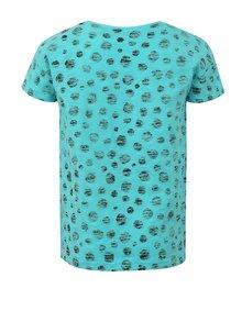 Modré dievčenské bodkované tričko s potlačou Blue Seven