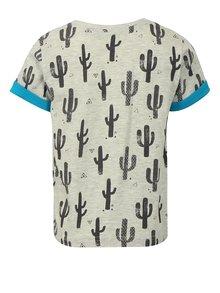 Svetlosivé chlapčenské tričko s náprsným vreckom Blue Seven
