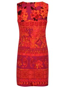 Fialovo-oranžové šaty Desigual Angelina