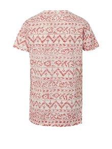 Červeno-krémové chlapčenské vzorované tričko Blue Seven