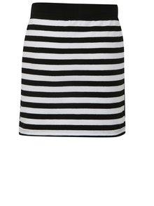 Bielo-čierna pruhovaná sukňa s flitrami na bokoch Blue Seven