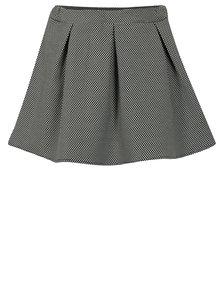 Bielo-čierna bodkovaná sukňa Blue Seven