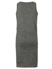 Čierne dievčenské melírované šaty s potlačou Blue Seven