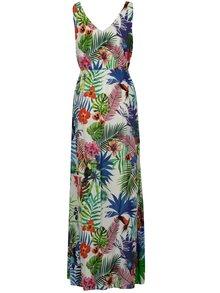 Rochie maxi crem cu print floral - Desigual Jasmine