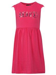 Růžové holčičí šaty s nápisem Blue Seven