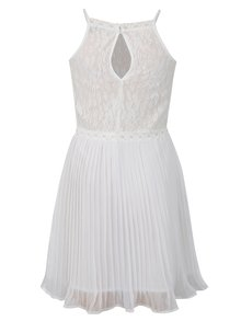 Biele dievčenské šaty s čipkovaným topom Blue Seven