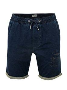 Pantaloni scurti bleumarin cu snur in talie Blend