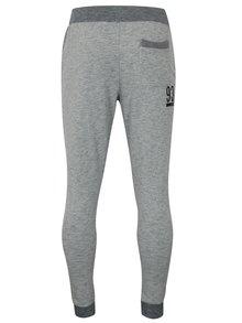 Pantaloni sport gri melanj cu print - Blend