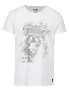 Bílé slim fit tričko s potiskem Blend