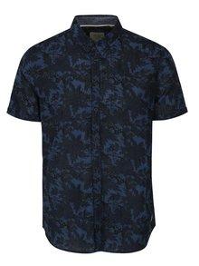 Tmavomodrá kvetovaná slim fit košeľa Blend