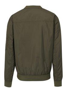 Jacheta bomber verde cu buzunare pe maneci - Blend