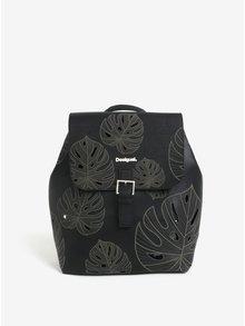 Rucsac negru cu perforatii in forma de frunze  Desigual Attalea Toronto