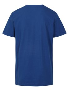 Tricou bleumarin regular fit cu print - Blend