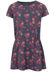 Tmavomodré kvetované šaty name it Velvet