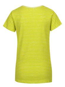 Svetlozelené dámske pruhované tričko LOAP Bernice