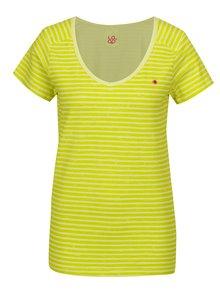 Světle zelené dámské pruhované tričko LOAP Bernice