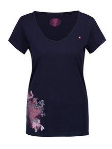 Tmavě modré dámské tričko s potiskem LOAP Abigale