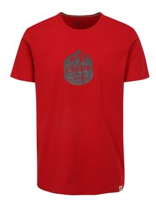 Tricou rosu cu print logo LOAP Bessip