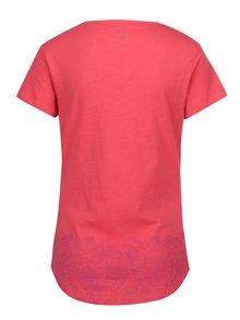Ružové dámske tričko s okrúhlym výstrihom a potlačou LOAP Balisey