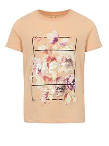 Marhuľové dievčenské tričko s potlačou name it Sandy