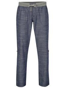 Pantaloni albastru melanj cu lungime ajustabila pentru femei LOAP Nadeta