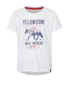 Biele detské tričko s potlačou LOAP Ibby