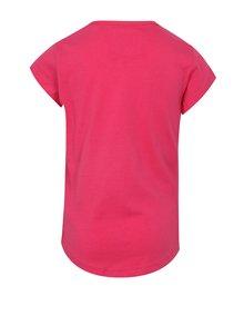 Ružové dievčenské tričko s potlačou LOAP Ibiska