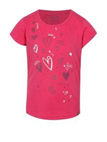 Růžové holčičí tričko s potiskem LOAP Ibiska