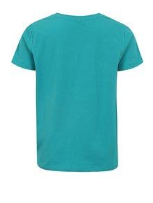 Tyrkysové chlapčenské tričko s potlačou name it Sam