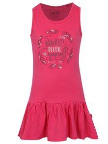 Ružové dievčenské šaty s potlačou LOAP Itilina