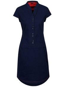 Tmavě modré šaty s kapsami a krátkým rukávem LOAP Narelis
