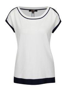 Modro-bílé tričko s průstřihy na ramenou Yest