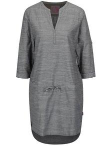 Sivé melírované šaty s 3/4 rukávom LOAP Nicia