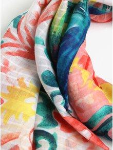 Esarfa cu print floral multicolor Desigual Born