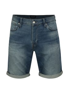 Pantaloni scurti din denim regular fit albastru cu terminatie rasucita - Jack & Jones Rick