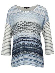 Modré vzorované tričko s 3/4 rukávom Yest