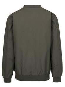 Jacheta bomber gri cu aplicatii pentru barbati - BUSHMAN Orin