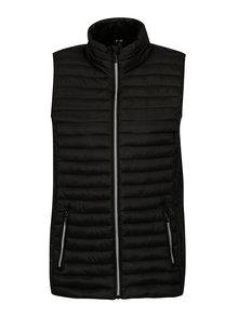 Čierna prešívaná vesta s vreckami Yest