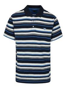 Tmavě modré pánské pruhované polo tričko BUSHMAN Mayer