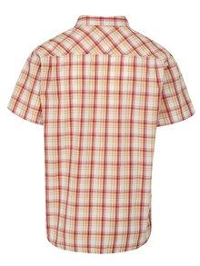 Krémovo-červená pánska károvaná košeľa BUSHMAN Inez