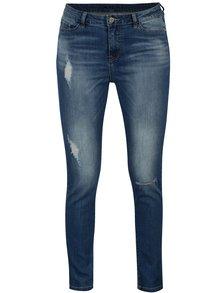 Tmavě modré slim džíny s potrhaným efektem VILA Julas