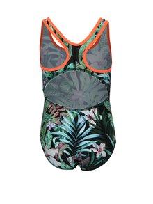 Zelené vzorované dievčenské jednodielne plavky name it Zandie