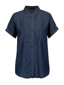 Tmavě modrá džínová košile s krátkým rukávem Yest