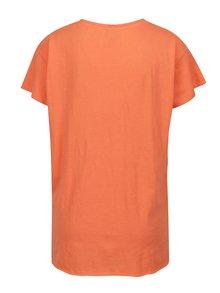 Oranžové tričko s rozparkami Blendshe Mal