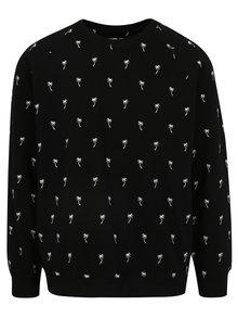 Bluza sport neagra cu print palmieri Dedicated Ditsy Palms