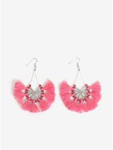 Ružové náušnice so strapcami Pieces Dawn